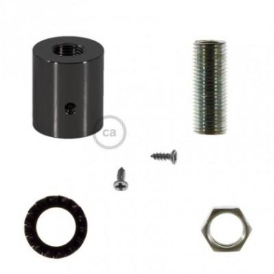 Raccord en métal noir perlé pour Creative-Tube 16 mm, accessoires inclus