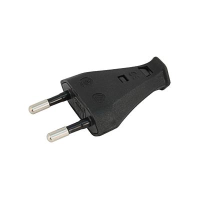 Stecker 2 polig schwartz (Europlug)