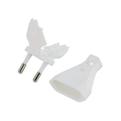 Stecker 2 polig weiss (Europlug)