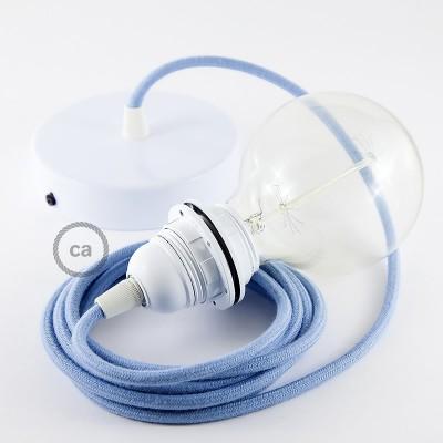 Lampe suspension pour Abat-jour câble textile Coton Océan RC53