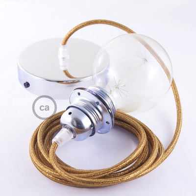 Pendel für Lampenschirm, Hängelampe Geglittert Kupfer RL22