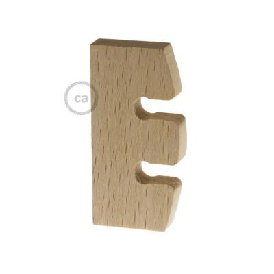 Höhenverstellung für Pendelleuchten aus unbehandeltem Holz. Made in Italy.