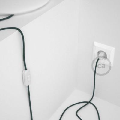 Cablaggio per lampada, cavo RC30 Cotone Grigio Pietra 1,80 m. Scegli il colore dell'interruttore e della spina.