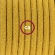 Cablaggio per lampada, cavo RC31 Cotone Miele Dorato 1,80 m. Scegli il colore dell'interruttore e della spina.