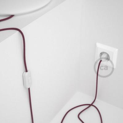 Cablaggio per lampada, cavo RC32 Cotone Vinaccia 1,80 m. Scegli il colore dell'interruttore e della spina.