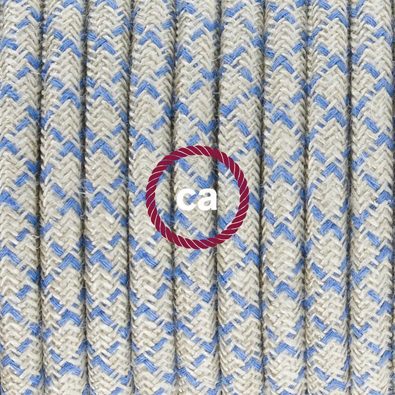 Cablaggio per lampada, cavo RD65 Losanga Blu Steward 1,80 m. Scegli il colore dell'interruttore e della spina.