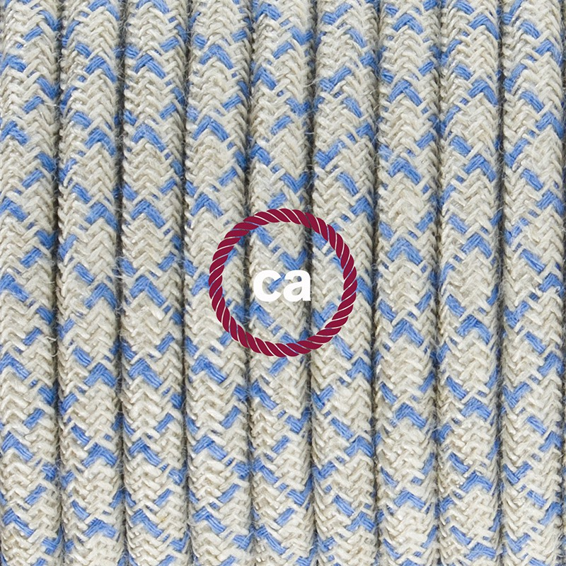 Zuleitung für Tischleuchten RD65 Raute Blau 1,80 m. Wählen Sie aus drei Farben bei Schalter und Stecke.