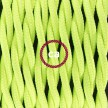 Zuleitung für Tischleuchten TF10 Gelb Fluoreszierend Seideneffekt 1,80 m. Wählen Sie aus drei Farben bei Schalter und Stecke.