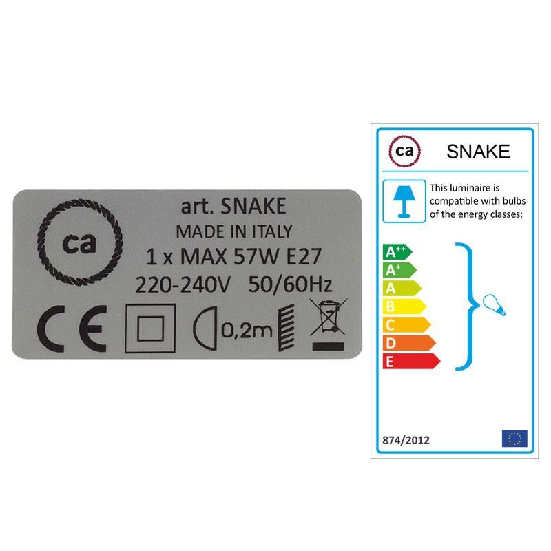 Configura il tuo Snake Lino Naturale Glitterato Nero RS81 e porta la luce dove vuoi tu.