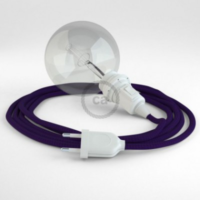 Créez votre Snake pour Abat-jour Effet Soie Violet RM14 et apportez la lumière là où vous souhaitez.