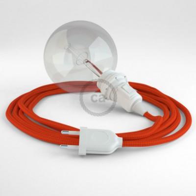 Créez votre Snake pour Abat-jour Effet Soie Orange RM15 et apportez la lumière là où vous souhaitez.