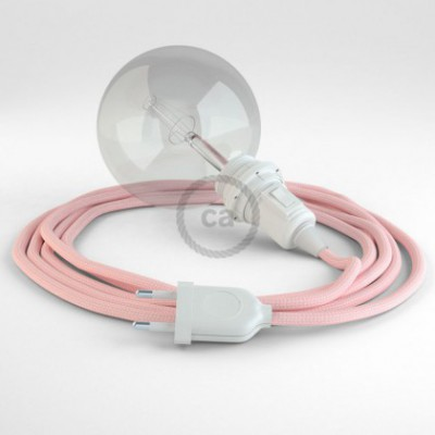 Créez votre Snake pour Abat-jour Effet Soie Rose Baby RM16 et apportez la lumière là où vous souhaitez.