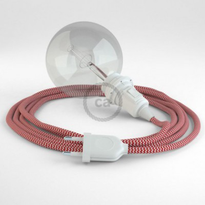 Kreieren sie ihre Snake Lampenschirm Leuchte mit dem RZ09 Zick Zack Rot und erleuchten sie ihre Umgebung.
