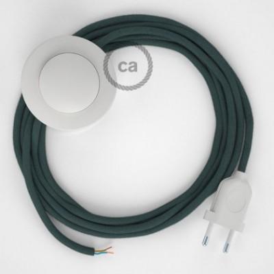 Stehleuchte Anschlussleitung RC30 Steingrau Baumwolle 3 m. Wählen Sie aus drei Farben bei Schalter und Stecke.