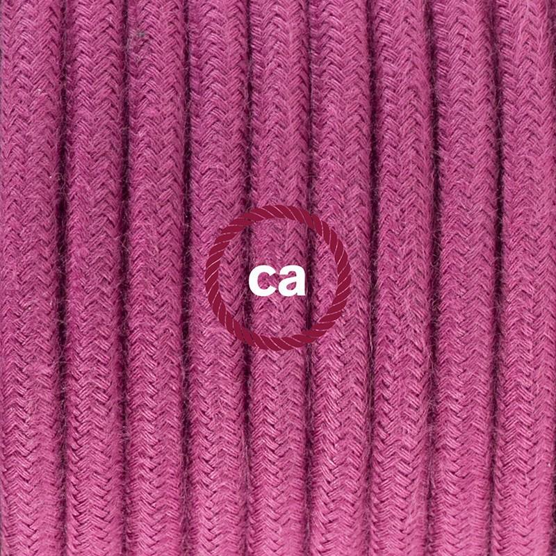 Stehleuchte Anschlussleitung RC32 Burgund Baumwolle 3 m. Wählen Sie aus drei Farben bei Schalter und Stecke.