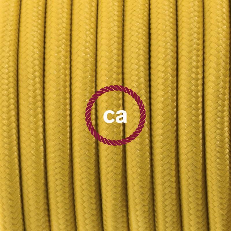 Stehleuchte Anschlussleitung RM25 Senfgelb Seideneffekt 3 m. Wählen Sie aus drei Farben bei Schalter und Stecke.