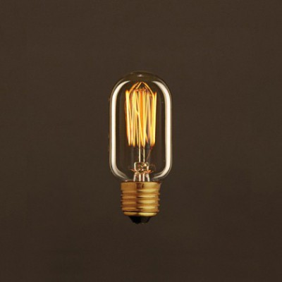 Ampoule Vintage Dorée Valve T45 Filament Carbone en cage 25W E27 Dimmable 2000K