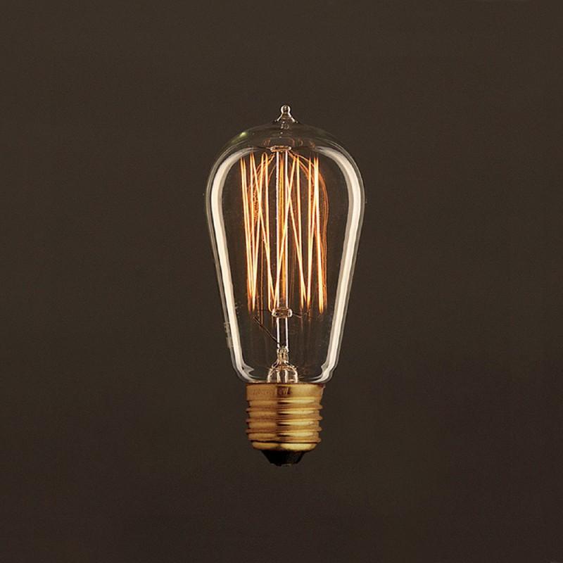 vintage gl hbirne gold edison st58 vertikaler kohlefaden 25w e27 dimmbar 2000k. Black Bedroom Furniture Sets. Home Design Ideas
