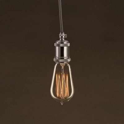 Vintage Glühbirne gold Edison ST58 vertikaler Kohlefaden 25W E27 dimmbar 2000K