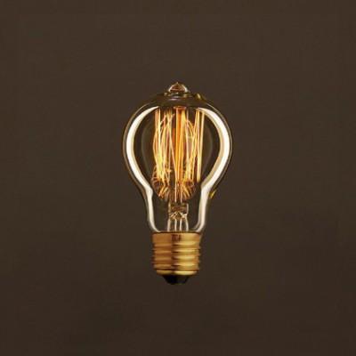 Ampoule Vintage Dorée Goutte A60 Filament Carbone en cage 25 W E27 Dimmable 2000K