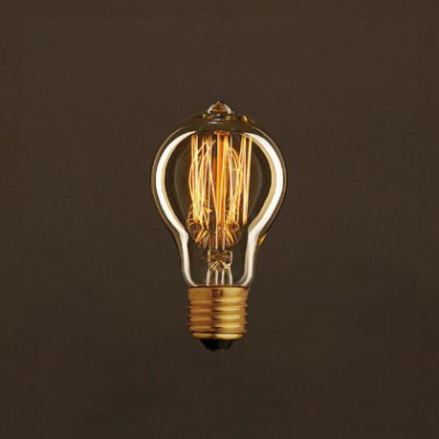 Vintage Glühbirne gold Tropfen A60 vertikaler Kohlefaden 25W E27 dimmbar 2000K