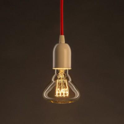 Ampoule Vintage Dorée BR95 Filament Carbone spirale horizontal 25W E27 Dimmable 2000K
