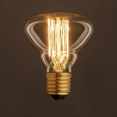 Ampoule Vintage Dorée BR95 Filament Carbone en cage 25W E27 Dimmable 2000K