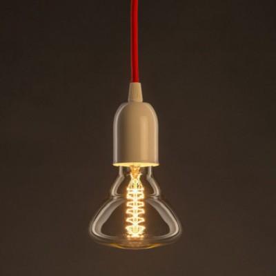 Ampoule Vintage Dorée BR95 Filament Carbone a double spirale 25W E27 Dimmable 2000K