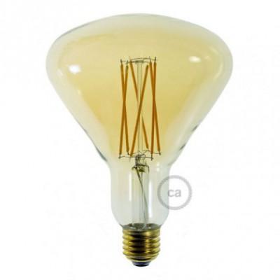 Ampoule Dorée LED BR125 Filament cage 4W E27 Dimmable 2000K