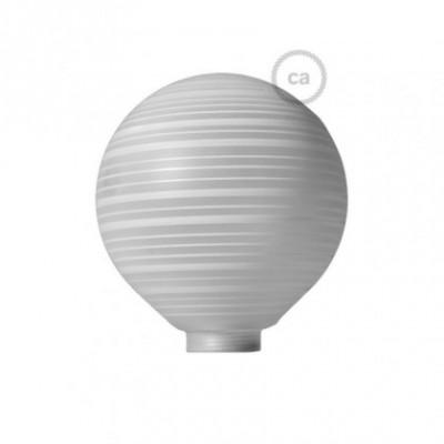 Ampoule Modulaire décorative G125 verre Blanc à Lignes Horizontales.