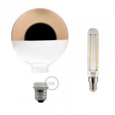 Ampoule Modulaire Décorative LED G125 Demi Sphère Cuivre 5W E27 Dimmable 2700K.