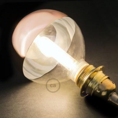 Lampadina Decorativa Componibile LED G125 con vetro semisfera rame 5W E27 Dimmerabile 2700K