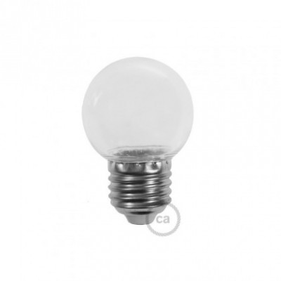 Ampoule décorative G45 Mini Globe LED 1W E27 2700K - Transparente