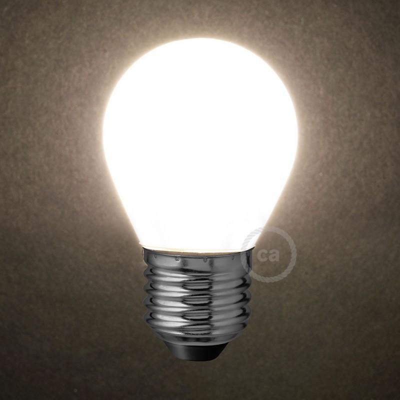 led gl hbirne milchglas mini globo g45 4w e27 dimmbar 2700k. Black Bedroom Furniture Sets. Home Design Ideas