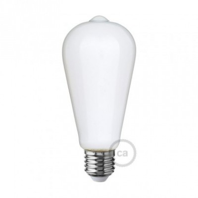 Ampoule LED blanc lait - Edison ST64 - 6W E27 Dimmable 2700K