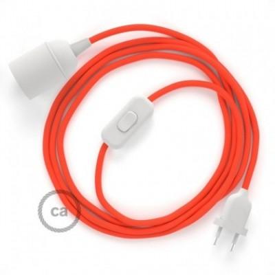 SnakeBis Leuchten-Zuleitung mit Textilkabel Orange Fluo RF15