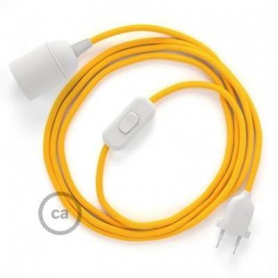 SnakeBis Leuchten-Zuleitung mit Textilkabel Gelb Seideneffekt RM10