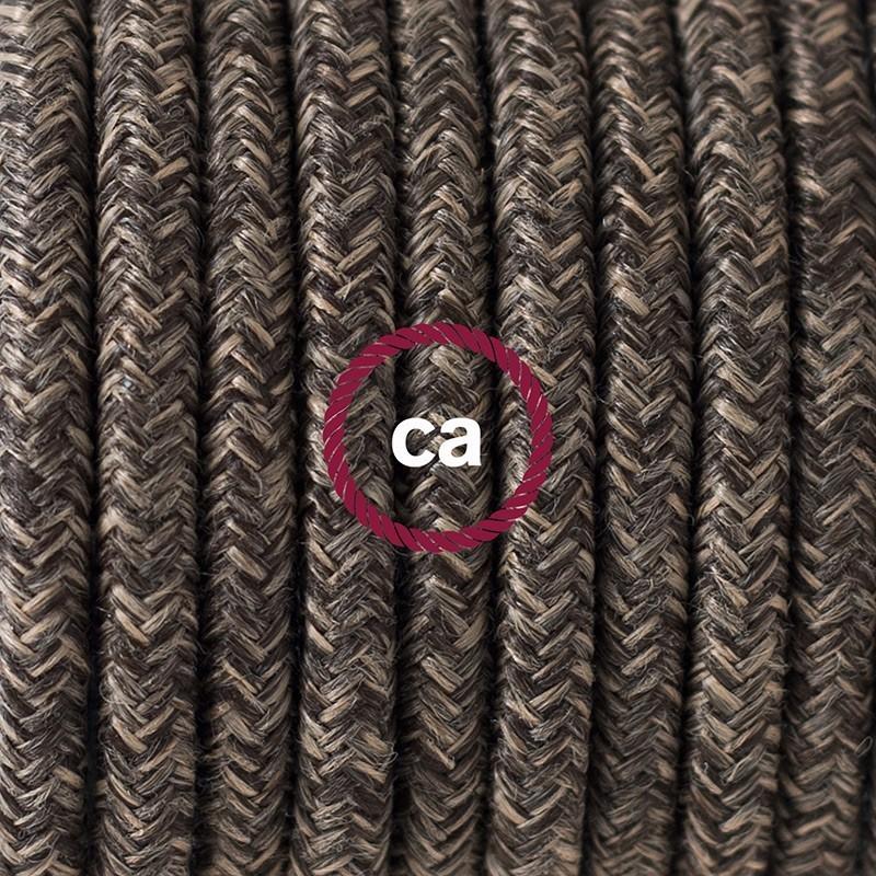 snakebis leuchten zuleitung mit textilkabel braun nat rlichem leinen rn04. Black Bedroom Furniture Sets. Home Design Ideas