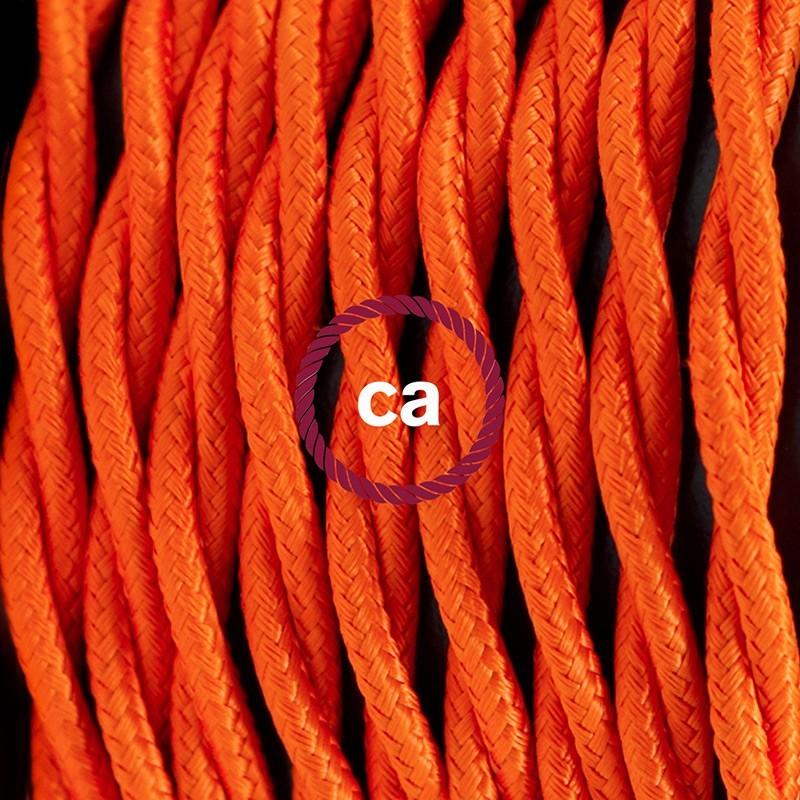 SnakeBis cordon avec douille et câble textile Effet Soie Orange TM15