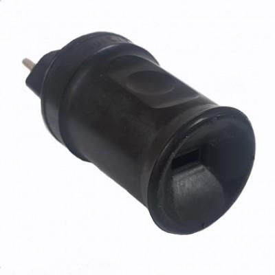 Schwarzer T12 Stecker für Lichterketten