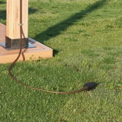 Boîte de jonction pour guirlandes avec adaptateur pour câbles ronds et plats