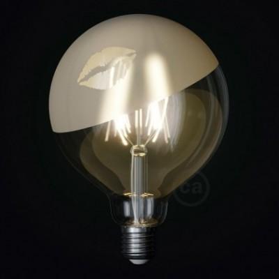 Ampoule LED Globe G125 Filament Court Version Tattoo Lamp® Modèle Kiss 4W E27 2700K