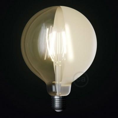 Ampoule LED Globe G125 Filament Court Version Tattoo Lamp® Modèle Half 4W E27 2700K