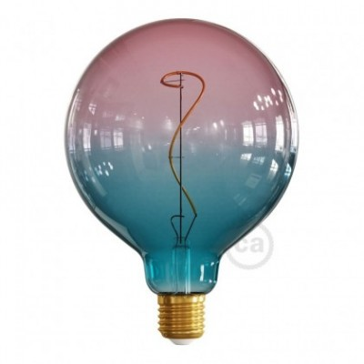 Ampoule LED Globo G125 série Pastel, couleur Rêve (Dream), filament liane 4W E27 Dimmable 2200K