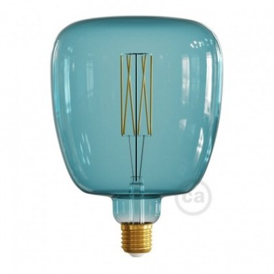 LED-Glühbirne Bona ozeanblau (Ocean Blue) gerades Filament 4W E27 dimmbar 2200K