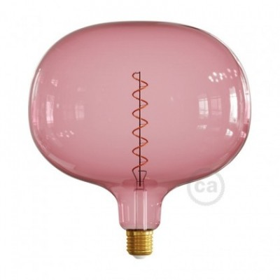 Ampoule LED Cobble série Pastel, Rose Poudré (Berry Red), filament spirale 4W E27 Dimmable 2200K