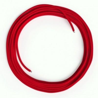 Cavo Lan Ethernet Cat 5e senza connettori RJ45 - RM09 Effetto Seta Rosso