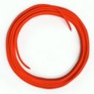 Cavo Lan Ethernet Cat 5e senza connettori RJ45 - RF15 Effetto Seta Arancione Fluo