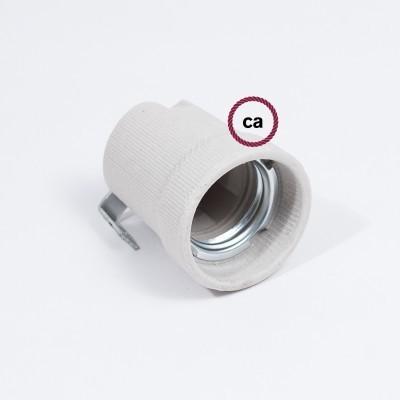 Kit douille E27 en porcelaine avec support intérieur