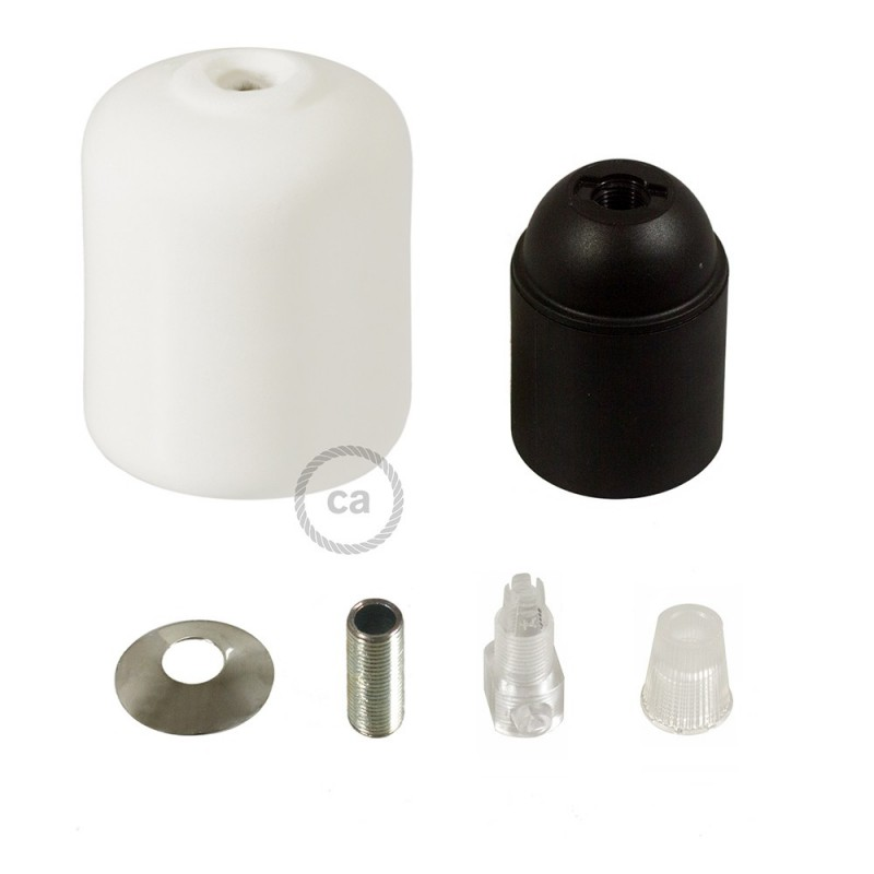 Kit portalampada E27 in ceramica